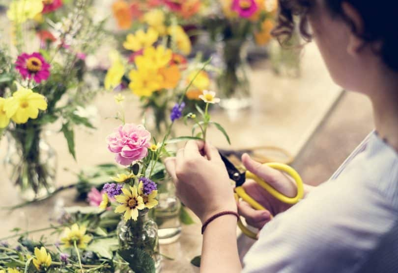 What is floristry? Floristry is the production and trade of flowers and is most commonly associated with beautifully arranged displays of flowers.